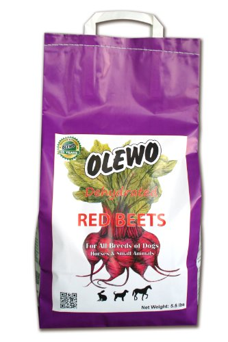 Olewo Red Beets Allergy Dog Food Supplement, controls dog skin allergies and itching with natural detoxification and anti-inflammatory support, adds natural source vitamins to any dog food to promote overall health, 1-ingredient, non-GMO product, Made in Germany, 5.5 Pounds Review