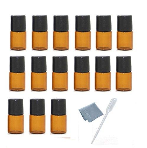 【国内即発送】 ELFENSTALL 15個 スリム 1ml B01MFEJ7PT 2ml ロールオン式ガラスボトル エッセンシャルオイル用 - 空のアロマセラピー/香水ボトル 2ML - 詰め替え可能 スリム メタルボール付き ブラックの蓋 琥珀色 スポイト付き 2ML ブラック 2ML B01MFEJ7PT, モダンインテリア Picchio:ac7b38db --- egreensolutions.ca