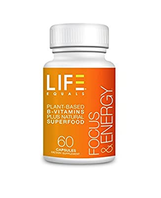 Life Equals Focus & Energy Best Performance Nootropics for Memory Booster and Cognitive Brain Supplement, 60 count