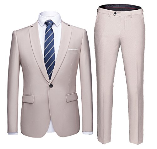 YIMANIE-Mens-Suit-Slim-Fit-2-Piece-One-Button-Blazer-Single-Breasted-Tuxedo-Business-Wedding-Party-JacketTrousers