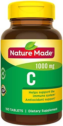 Nature Made Vitamin C 1000 mg, 100 Tablets (Pack of 3)