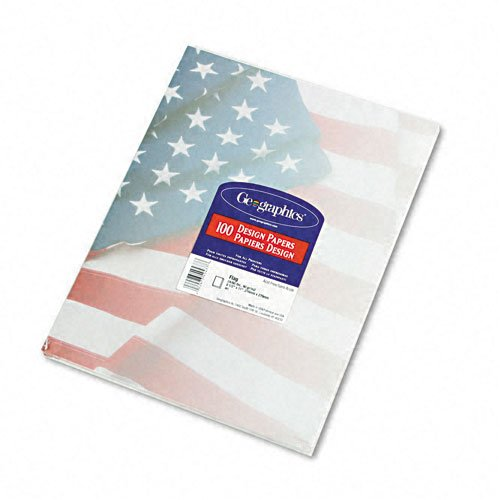 GeographicsDesign Paper, Flag, 24 lb, 8.5 x 11 Inches, 100 Sheets per Pack (40437)