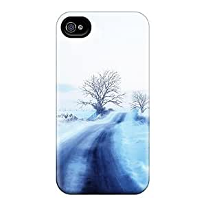 First-class Case Cover For Iphone 4/4s Dual Protection Cover Winter Powder Road