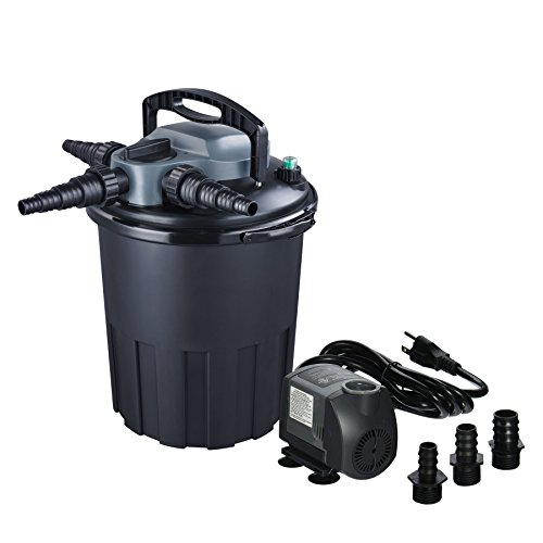 Jebao CBF-12000 24w UVC Bio Pressure Pond Filter with 1200GPH Pump, Up to 3000 gallon ()