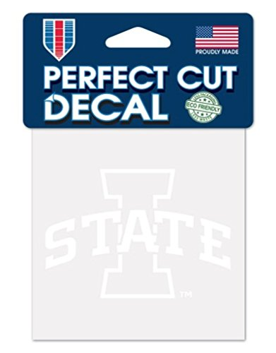 WinCraft NCAA Iowa State Cyclones 4x4 Perfect Cut White Decal, One Size, Team Color