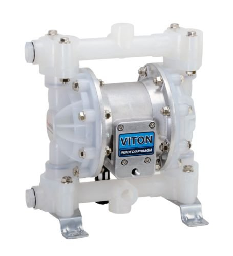 FUELWORKS Heavy Duty Air-Operated Aluminium Diaphragm Pump (Viton- 12GPM 1/2'')