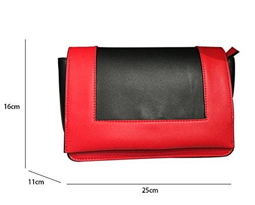 rouge Rouge JUND Sac Rouge pour femme à main BYqO0B