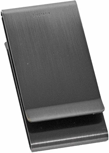 Gunmetal Stainless Steel Double-Sided Boxed Money Clip - Double Money Clip
