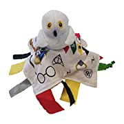 Baby Sensory, Educational & Teething Closed Ribbon Tag Lovey Blanket with Security Plush: 10 X10  (Wizard)