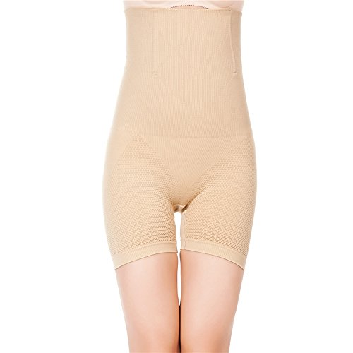 Prime Amazon Day, Womens Shapewear Bodysuit High Waist Tummy Control with Butt Compression Shorts Nude -