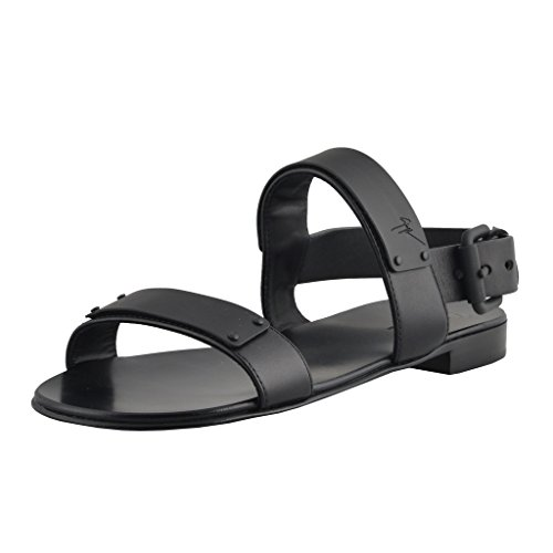 Giuseppe Zanotti Leather Homme Men's Black Leather Zanotti Sandals Shoes Parent B01AO00P28 d37ddd