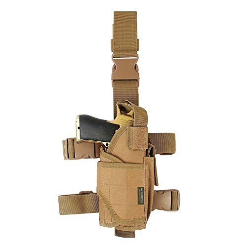 (Drop Leg Holster, Right Handed Tactical Thigh Pistol Gun Holster Leg Harness (XL))