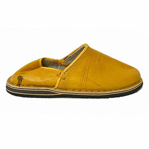 Babouche Touareg homme et femme couleur jaune babouches confortables et solides_ chaussons robustes conçus pour un usage quotidi