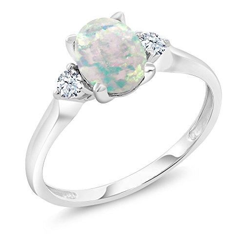 Opal Diamond Gold Anniversary Ring - 2