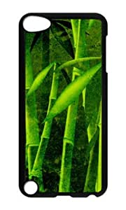 Ipod 5 Case,MOKSHOP Cute Bamboo Hard Case Protective Shell Cell Phone Cover For Ipod 5 - PC Black