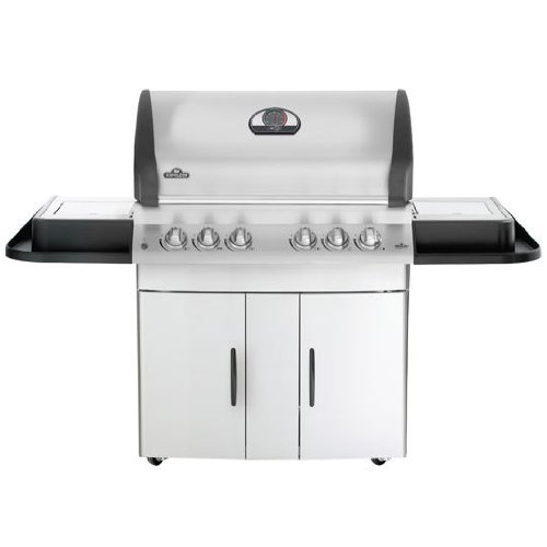 Napoleon Mirage Series  M605rsbipss1 70 Freestanding Gas Grill With 850 Sq  In  Standard Flush Mount 11 000 Btu Side Burner And Patented 304 Stainless Steel Wave Rod Cooking Grids  Full Width Removable Drip Pan For Easy Clean Ups  Liquid Propane