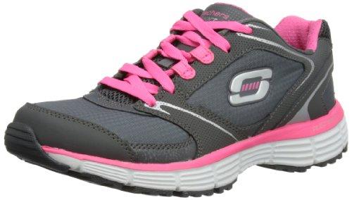 Skechers Agility - Rewind, Zapatillas de Deporte Exterior para Mujer Gris (Cchp)