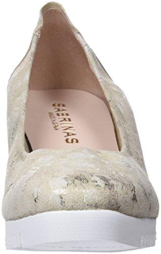 Sabrinas Damen Montreal Geschlossene Ballerinas Silber (Platino)