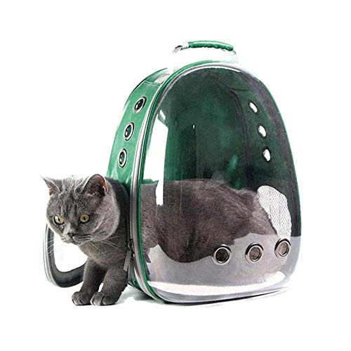 Leegoal Portable Pet/Cat/Dog Backpack Carrier Bubble, New Space Capsule Design 360° Sightseeing Safe & Breathable Rucksack Handbag Transparent Travel Bag -