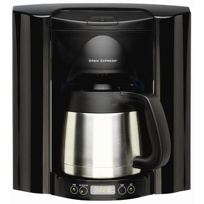 10 Cup Built-In Self-Filling Coffee and Hot Beverage System Finish: Black