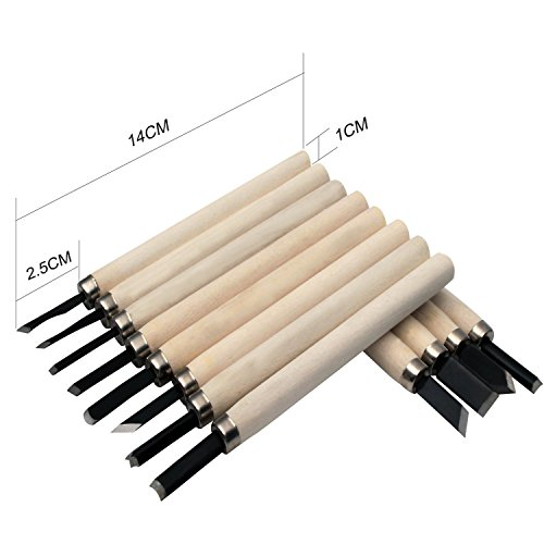 Shopline Professional 12 Pieces Wood Carving Chisel Set, Wood Carving Knife Kit