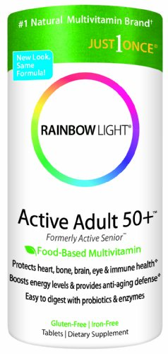 RAINBOW LIGHT - MULTI VITAMINE ANTI VIEILLISSEMENT 50 ANS ET + - 90 CAPSULES