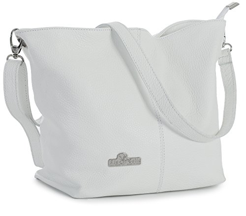 White Leather Handbags - 3