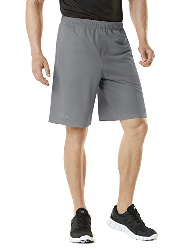 TM-MBS01-STL_X-Large Tesla Men's Active Shorts Sports Performance HyperDri II With Pockets MBS01