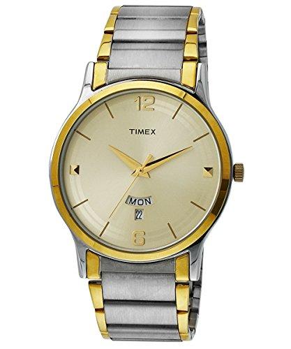 Timex Classics Analog Beige Dial Men #39;s Watch TW000R426