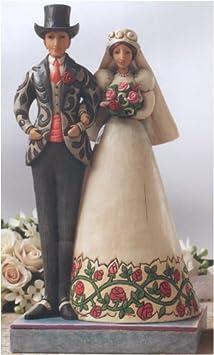 Jim Shore I DO Bride and Groom Stone Resin Wedding 4007234