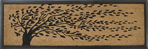 A1 Home Collections A1HOME200078 Rubber and Coir Molded 'Falling Leaves' Double Doormat, 16