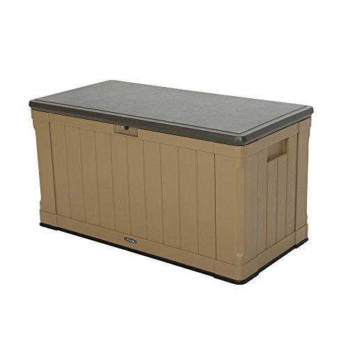 Lifetime 60167 Outdoor Storage Box, 116 Gallon, Heather Beige (Storage Weatherproof)