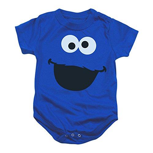 Sesame Street Cookie Monster Baby Onesie Bodysuit, (12 - Cookie 1st Birthday Monster