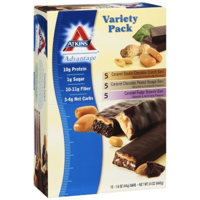 Atkins Advantage-Caramel Variety Pack, 15ct