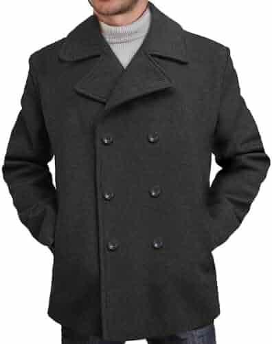 a2d2113c72f1 BGSD Men s  Mark  Classic Wool Blend Pea Coat (Regular Big   Tall)