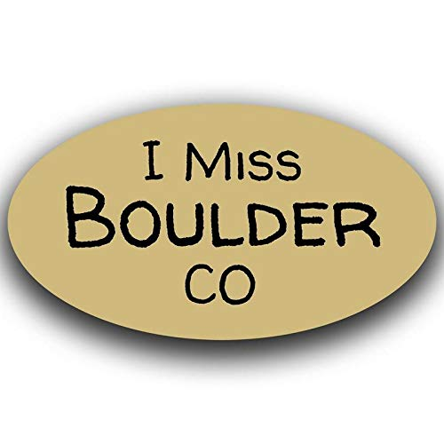 MKS0451 One 5.5 Inch Decal More Shiz I Miss Boulder Colorado Decal Sticker Travel Car Truck Van Bumper Window Laptop Cup Wall
