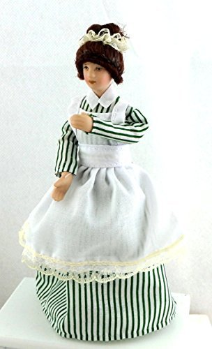 Melody Jane Dolls Houses House Miniature Porcelain People Victorian Woman Lady Servant Maid Cook from Melody