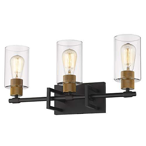 Zeyu 3-Light Vanity Wall Light, Vintage Vanity Light Fixture for Bathroom Kitchen -