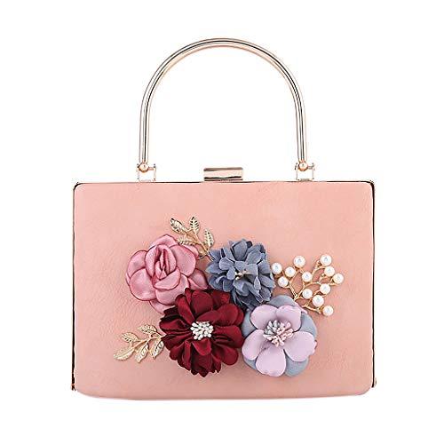 chaîne mariage à fleurs élégant pampille Pochette à à à Luxe pour Wanfor 8 femmes 01rose COLORS pour embrayage tn6q0x