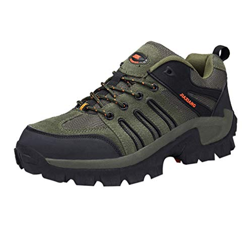 Mysky Popular Men Casual Outdoor Anti-Skid Sneakers Comfortable Wear-Resistant Shock-Absorbing Hiking Shoes -
