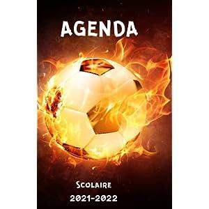Agenda scolaire 2021 2022: Agenda foot pour collège lycée| semainier journalier | 1 page par jour | calendrier… 10