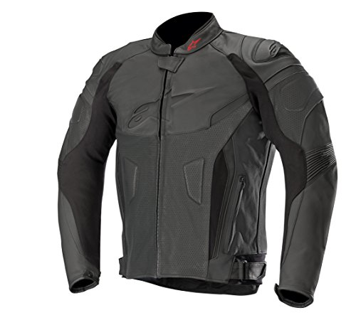 (GP Plus R v2 Airflow Leather Street Motorcycle Jacket (56 EU, Black Black))
