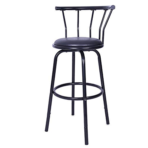 Clothful  Vintage Wrought Iron Rotating High Stool Bar Chair Steel Counter Height,Set of 2