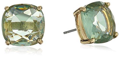 blue square stud earrings - 5