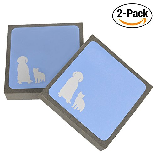YipinNuo Pet Hair Cleaner, Environmentally Friendly Pet Hair Remover for Furniture, Pet Hair Cleaning Brush for Bedding Carpets Car Seats Sofa Mat, Perfect for Dogs Cats(2 Pack) - Dog Hair Mats