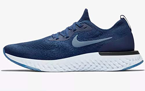 Nike Men's Epic React Flyknit Running Shoe College Navy/Diffused Blue/Football Grey 11.5 M US