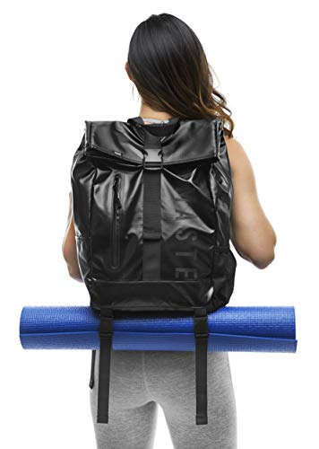 Masaya Yoga Mat Bag with Shoe Bags- Lightweight, Multi- Purpose Backpack- Waterproof 25L Sport Gym Tote Bag for Travel, Hiking, School- Laptop Carrier- Carry Mat 2 Ways, 8 Pockets- Holds up to 30 lb