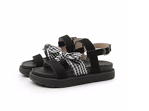 Black Slipper Women pit4tk Beaded Women Flip Shoes Summer T Flat Sandals Strap Women Bohemia Flop Owl Sandals qaq80w
