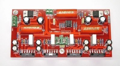 LM3886 + NE5532 200W Audio power Amplifier Board In parallel BTL by Jolooyo