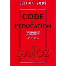 CODE DE L'ÉDUCATION 2009 COMMENTÉ 3ED.